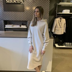 Hoodie sweat dress sand van Shoeby